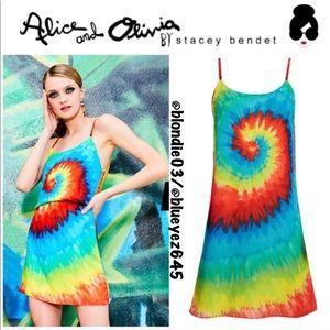 """Alice + Olivia """"Emmie"""" tie dye mini dress XS"""